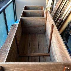 扉DIY/玄関収納/玄関/野地板DIY/靴箱収納/フォロー大歓迎/... 娘ちゃんの靴やベビーカーを収納するのに靴…