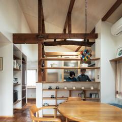 不動産・住宅/木造/新築/改築/リフォーム/リノベーション/... 家具製作したベンチに合わせて既存のチェア…