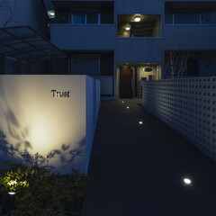 マンション/アパート/ハイツ/賃貸/リフォーム/リノベーション/... 西側、Trust へのアプローチ。長い通…