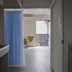 設計事務所/建築家/大阪/奈良/グレー/ブルー/... Dias#201|ワンルームの中に無秩序…