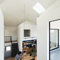 新築/木造/住宅/間取り/戸建て/大阪/... 書斎から四つ角を見る。階段はエキスパンド…