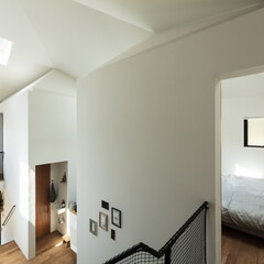 新築/住宅/木造/戸建て/間取り/大阪/... 大きな家と小さな家は一つの大きな屋根を共…