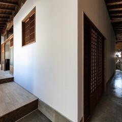 奈良/古民家/戸建/一戸建て/町家/町屋/... 玄関から見る透き間。耐震性、断熱性、空気…