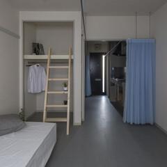 建築家/設計事務所/大阪/奈良/ブルー/グレー/... Dias#201|ワンルームの中に無秩序…