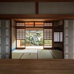 和風/和室/和モダン/畳/襖/鹿児島睦/... ギャラリーから和室、南庭を見る。雪見障子…