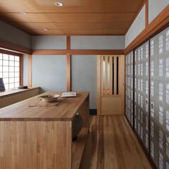 和室/和風/和モダン/木造/不動産・住宅/耐震/... 入口引戸を無双窓に変更して東西の風の流れ…