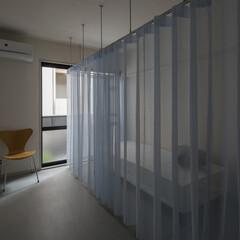 建築家/設計事務所/大阪/奈良/カーテン/ファブリック/... Dias#201|ワンルームの中に無秩序…