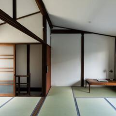 京町家/京都/大阪/奈良/関西/町屋/... 2階。既存天井板を剥がして船底天井に変更…(1枚目)