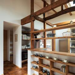 建築/設計/建築家/設計事務所/大阪/奈良/... 構造補強を行いつつ、状態が良い既存の柱…
