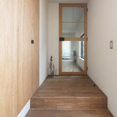 新築/住宅/間取り/木造/戸建て/エントランス/... エントランスからリビング方向。アンティー…