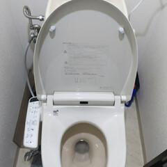 INAX/ウォシュレット/トイレリフォーム/DIY/家具/住まい/... トイレに、コンセントもなく、ウォシュレッ…