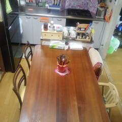コンロ専用パネル/なっかん/お家自慢/油跳ね防止パネル/台所/テーブル/... ~台所と食事テーブル。~  随分昔、私が…