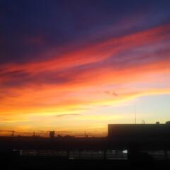 コンロ専用パネル/なっかん/+wonder/アイカ工業/セラール/油跳ね防止パネル/... ~ 朱空。 ~  この朱空は、夕焼け?そ…