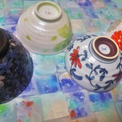 コンロ専用パネル/油跳ね防止パネル/キッチンパネル/対面キッチン/アイランド型キッチン/男の台所/... ~お茶碗の中。~  毎日お茶碗を洗ってる…