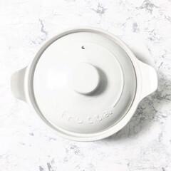 土鍋/ダイソー/100均/鍋料理/一人鍋/ホワイト雑貨 1人用の白い土鍋を買いました‼️だがしか…