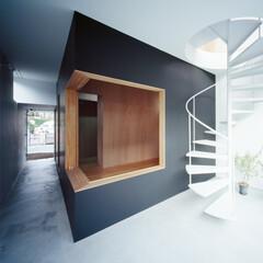 土間/モルタル/コンクリート/黒板/黒板塗料/らせん階段/... 【クウハウス】遊び場にもなる土間 1階土…