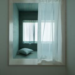 ベッド/寝室/出窓/セミダブル/桐/ロフト/... 【cotoiro】出窓型のベッド 外に貼…(1枚目)