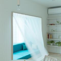 出窓/ソファ/デイベッド/造り付け/ベンチ/カーテン/... 【cotoiro】出窓型のソファ 外へ張…