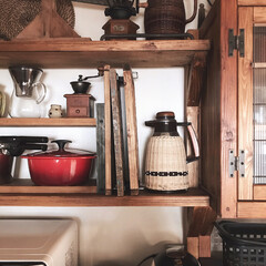 リノベーション/食器棚/キッチン/DIY/雑貨/インテリア/... こんにちは(♡ˊ艸ˋ♡) 今日もポカポカ…