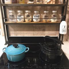 DIY/インテリア/キッチン/スパイスラック/手作り/アイアン/... おはよう(♡ˊ艸ˋ♡) 今日もいいお天気…