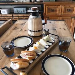 カフェ風インテリア/トレイ/お昼ご飯/おうちごはん/DIY/インテリア/... こんにちは(♡ˊ艸ˋ♡) 今日から兵庫県…