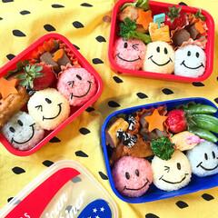 キャラ弁/子供/お弁当/フード/グルメ 双子の息子の幼稚園での親子弁当♡ カラフ…