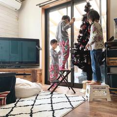 クリスマスツリー/インテリア/雑貨/DIY/クリスマス/家具/... おはようございます。 先日、ツインズと姪…(1枚目)