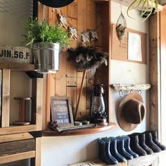 ラブリコ/流木/ニッチ/パレット/DIY/雑貨/... 今日はいいお天気ですね。 我が家の玄関は…