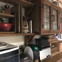 コーヒー/キッチン/リノベーション/食器棚/DIY/雑貨/... おはようございます(u‿ฺu✿ฺ) ツイ…