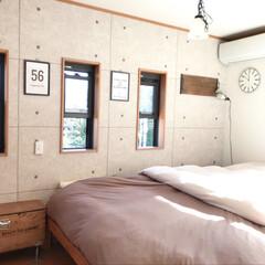寝具/寝室/DIY/インテリア/家具/無印良品/... こんにちは! 今日は寒いけどいいお天気で…