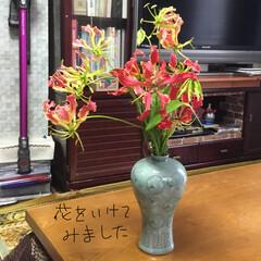 蚤の市/おでかけ 筥崎宮の蚤の市で買った花瓶。もう片付ける…