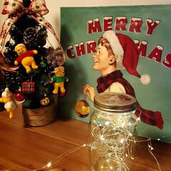イルミネーションライト/クリスマス2019/リミアの冬暮らし/雑貨 ショップの紙袋がかわいかったので飾ってみ…