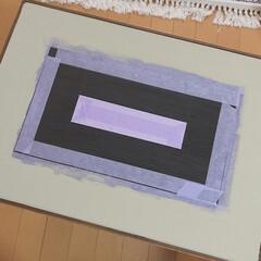 ニッペホームプロダクツ/maca products/見て下さりありがとうございます♡/木工/端材DIY/廃材DIY/... 昨日できたサイドテーブルの天板の色を黒か…(4枚目)