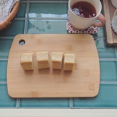 キッチン雑貨/キッチン/DIY/竹のまな板/カフェ風キッチン/100均/... 最近買ったダイソーの竹のカッティングボー…(1枚目)