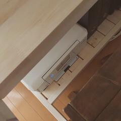 ドライフラワー/室内干し/机DIY/棚DIY/ワークスペース/DIY/... ワークデスクを作りました😊 今回はデスク…(3枚目)