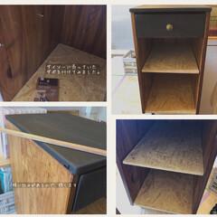 見て下さりありがとうございます♡/木工/DIY/端材DIY/廃材DIY/サイドテーブルDIY/... 父のベッドサイドテーブルを廃材で作りまし…(7枚目)
