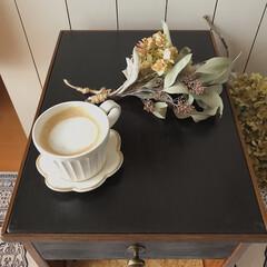 見て下さりありがとうございます♡/木工/DIY/端材DIY/廃材DIY/サイドテーブルDIY/... 父のベッドサイドテーブルを廃材で作りまし…(6枚目)