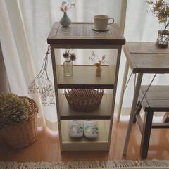 タイルDIY/収納棚DIY/木工/棚DIY/棚/収納/... 先日、姉に頼まれていた棚を作りました。 …(1枚目)