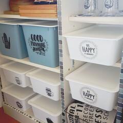収納棚リメイク/収納棚DIY/キッチン雑貨/収納/キッチン/シンデレラフィット/... 20年以上前の白い収納棚をリメイクしまし…