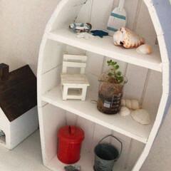 白木/かわいい/ナチュラルキッチン/衣替え/DIY/ディアウォール/... 母の日に娘から貰ったボート型の棚🚤夏らし…