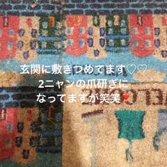 玄関マット/令和元年フォト投稿キャンペーン/フォロー大歓迎/雑貨/暮らし 玄関に敷きつめてます♡♡♡
