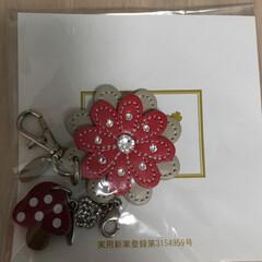 キーホルダー/皮のパーツ/私のお気に入り♡/令和元年フォト投稿キャンペーン きのこ🍄が可愛いです💕
