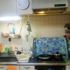 キッチンパネル/キッチン道具/キッチン大好き/お洒落/インテリア/家具/... 消されてたので再アップさせていただきまし…(1枚目)