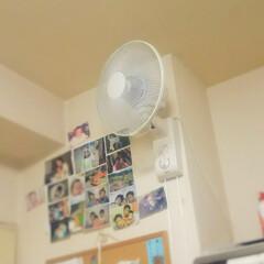 キッチンパネル/コンロ専用パネル/アイカ/油はね防止パネル ~壁掛け式扇風機。~   (この時期、少…