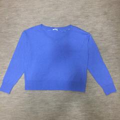 ファッション GU コットンブレンドVネックセーター
