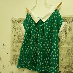 梅雨/衣替え/ファッション/ハンドメイド ハンドメイドの服。 暑くなってきたので😰…