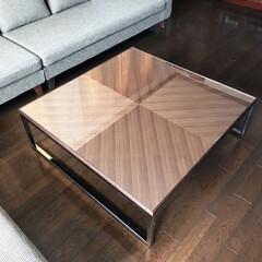 オーダー家具/リビングテーブル/ステンレス/矢張/ウォルナット/オリジナル家具/... 矢張のリビングテーブル