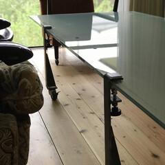 夏インテリア 天板ガラスはリメイク品 脚はプロトタイプ…(1枚目)