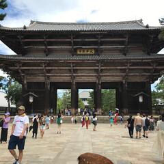 東大寺/お寺/和風/和風建築/奈良/観光/... 今年の夏は、小学生の頃から行ってなかった…(1枚目)