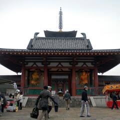 お寺/四天王寺/大阪/古寺/和風/日本/... 「四天王寺」は大阪市の中心部にあります。